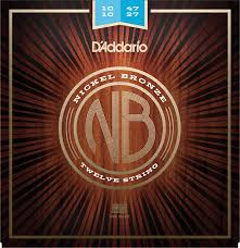 Medium Light Guitar Strings by D U0027addario Nb1253 Nickel Bronze Acoustic Guitar Strings Light