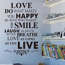 love decorations for the home love do what makes you house rule wall sticker quotes and saying