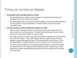 best ideas of letter of credit definition and types pdf in