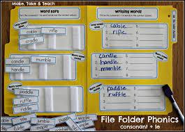 file folder phonics make take u0026 teach
