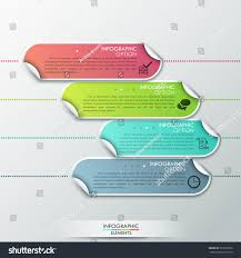 paper ribbons abstract infographics template design paper ribbons stock vector