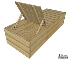 Plans For Wooden Chaise Lounge Remodelaholic Diy Reclining Outdoor Lounge Chair Storage Makeovers