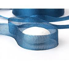 peacock ribbon blue titanium tubular mesh ribbon titanium mesh cord 1 mt