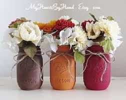 Mason Jar Vases For Wedding Fall Wedding Centerpieces Etsy