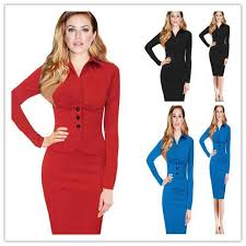 autumn european and american office dresses for women new