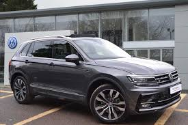 volkswagen grey find a used grey vw tiguan 2 0 tdi 240ps 4wd r line 4motion bmt