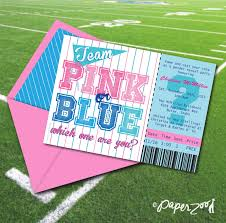 baby shower sports invitations sale instant download team pink or blue 5 x 7 printable
