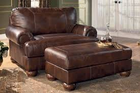 Leather Armchair With Ottoman Leather Chair And A Half With Ottoman Ideas U2014 Jen U0026 Joes Design
