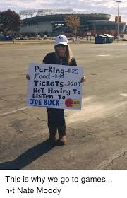 Joe Buck Meme - parking 25 tickets 200 not having to listen joe buck less this
