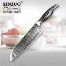japanese damascus kitchen knives aliexpress com buy 7 inch santoku knife japanese vg10 73