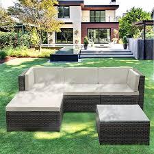 Patio Furniture From Walmart by Ikayaa Fashion Pe Rattan Wicker Patio Garden Furniture Sofa Set W