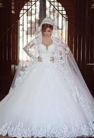 discount luxury lace ball gown wedding dresses with sleeves