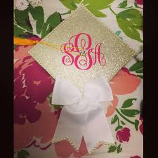 cap and gown decorations the southern diy monogrammed graduation cap