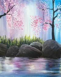 spring painting ideas the images collection of isiteincclub easy spring paintings delicate