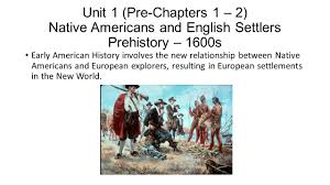 unit 1 pre chapters 1 u2013 2 native americans and english settlers
