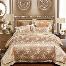 Gold Bedding Sets Luxury Gold Bedding Sets Duvet Cover Set Jacquard Bedspreads Satin
