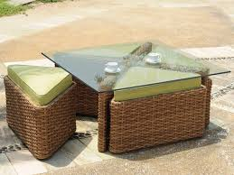 rattan coffee table outdoor rattan coffee table with stools coffee table design ideas