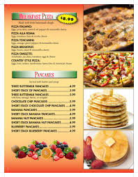 spatola u0027s pizza and italian restaurant breakfast menu