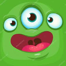 halloween monster background cartoon monster face vector halloween green monster avatar with