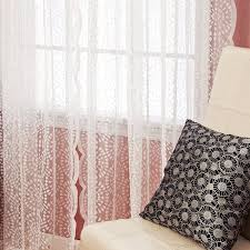 amazon com best home fashion sheer lace curtains rod pocket