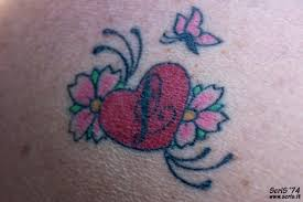 small heart tattoos designs with flowers pictures to pin on