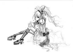 anime goth sketch by fallingsarah on deviantart