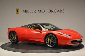 orange ferrari 2013 ferrari 458 spider stock 4341 for sale near greenwich ct