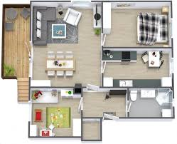 appartement 2 chambres idee plan3d appartement 2chambres 32