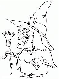 witch printable halloween coloring pages hallowen coloring pages