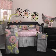 Pink And Black Crib Bedding Sets Poppy 7pc Crib Bedding Set