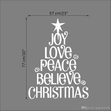 joy love peace believe christmas christmas tree wall quote decal joy love peace believe christmas christmas tree wall quote decal sticker festival home lettering wallpaper art poster wall mural stickers wall murals and