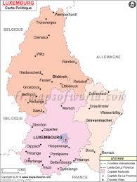luxembourg carte carte de luxembourg