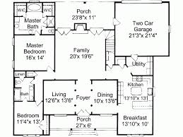 one colonial house plans colonial house plan fabulous four bedroom home one level plans