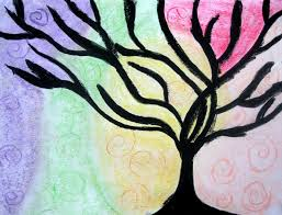 swirl color tree class ideas