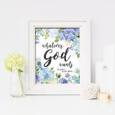whatever god wants st gianna molla catholic printable wall art