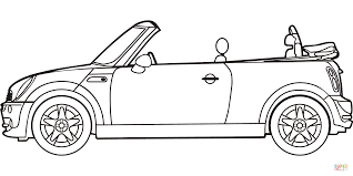 mini coloring book mini cooper convertible coloring page free printable coloring pages