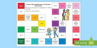multiplication table games 3rd grade 2 times table multiplication and division board game maths