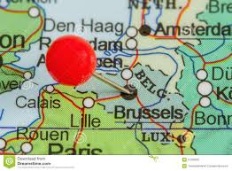 Brussels Map Pin On A Map Of Brussels Stock Photo Image 57330205