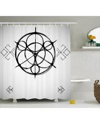 Circles Shower Curtain Shower Curtain Abstract Circles Print For Bathroom