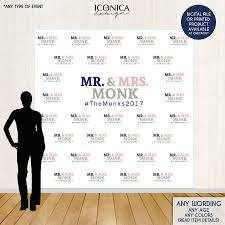 wedding backdrop banner photo booth backdrop custom step and repeat backdrop engagement