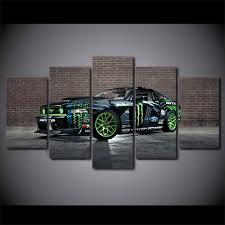 aliexpress com buy 5 piece canvas art ford sports car canvas