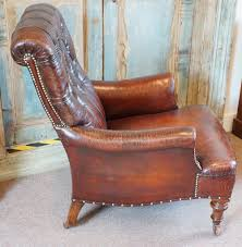 victorian button back leather club chair antiques atlas