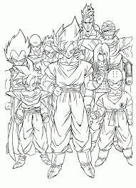 dragon ball coloring pages free printable 9861