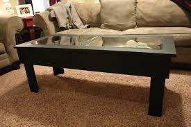 wonderful glass top coffee table display case 40 glass top coffee