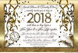 new years wedding invitations golden new years invitations count clock