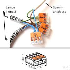 Wohnzimmerlampe Anklemmen Jølg Tutorial Zwei Oder Mehrere Lampen An Einen Stromanschluss