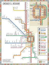 Map Metro Chicago by Seeing The Cta Wright The Transit System Remapped Via Frank Lloyd