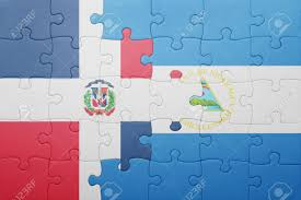 Flag Of The Dominican Republic Puzzle With The National Flag Of Nicaragua And Dominican Republic
