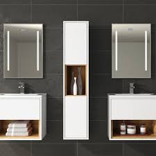 hudson reed coast white vanity unit cst984e 510mm wall