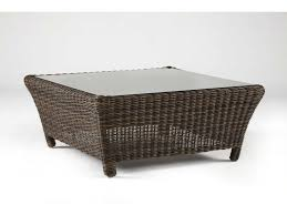 Square Glass Coffee Table by South Sea Rattan Del Ray Wicker Sectional 36 Square Glass Coffee